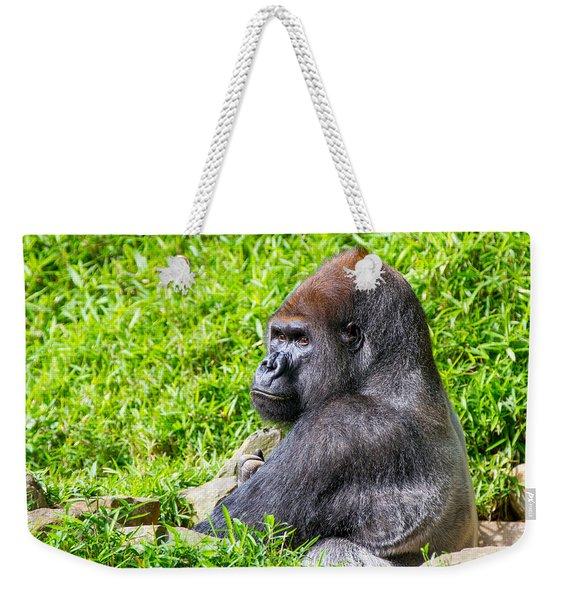 Baraka - Western Lowalnd Silverback Gorilla Weekender Tote Bag
