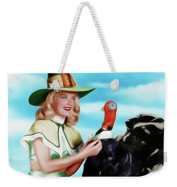 Barbara Bates, Vintage Actress And Pinup Weekender Tote Bag