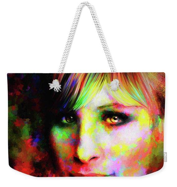 Barbara Streisand Weekender Tote Bag