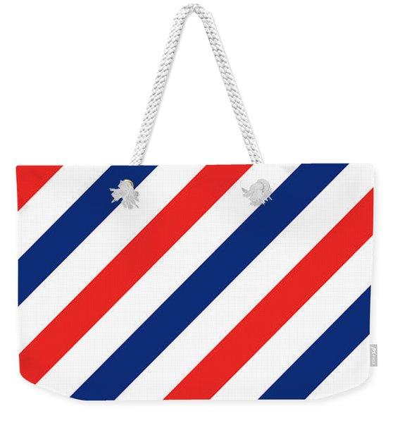 Barber Stripes Weekender Tote Bag