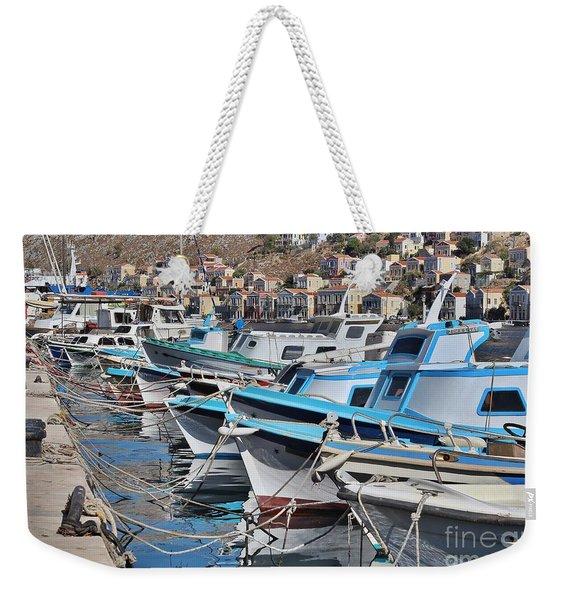 Harbour Of Simi Weekender Tote Bag
