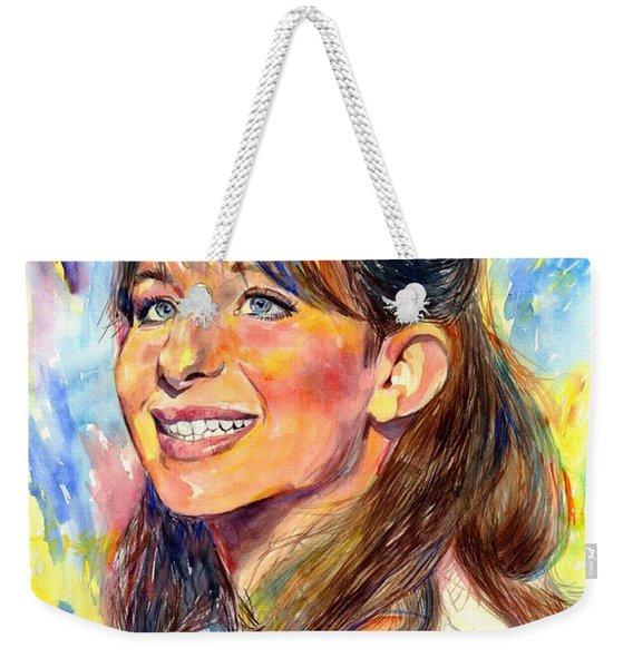 Barbra Streisand Young Portrait Weekender Tote Bag