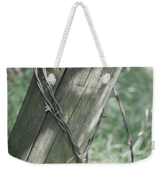 Barbwire Shadow Weekender Tote Bag
