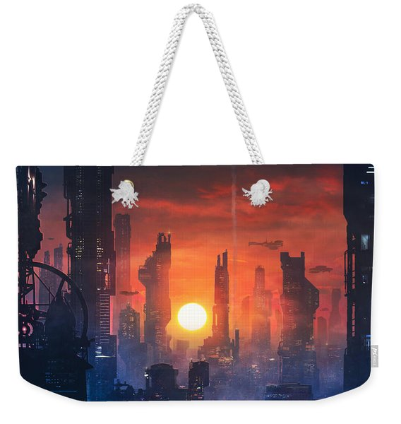 Barcelona Smoke And Neons The End Weekender Tote Bag