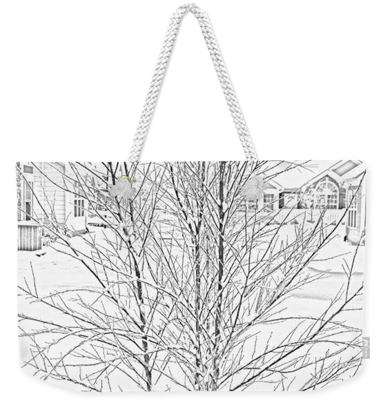Bare Naked Tree Weekender Tote Bag