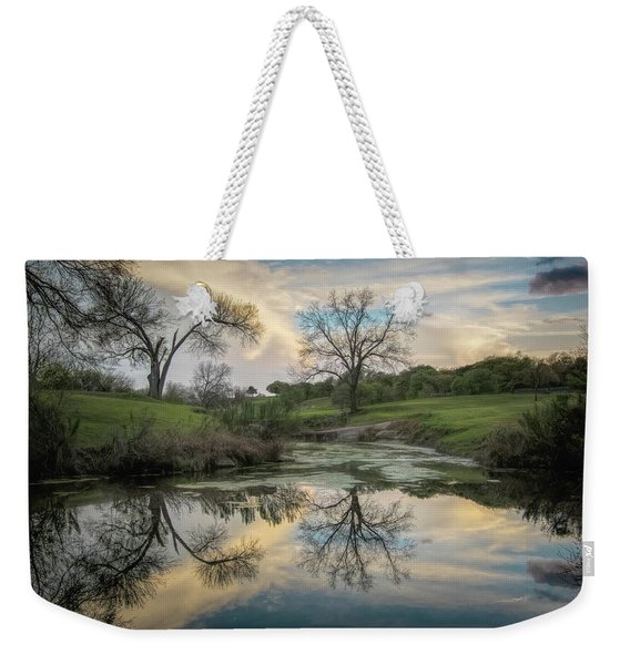 Bare Tree Reflections Weekender Tote Bag