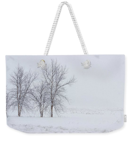 Bare Trees In A Snow Storm Weekender Tote Bag