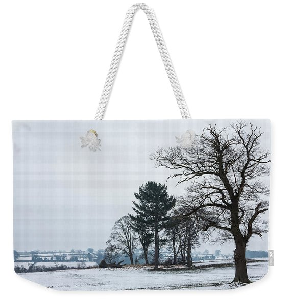 Bare Trees In The Snow Weekender Tote Bag