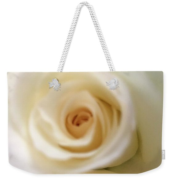 Barely White Rose Weekender Tote Bag