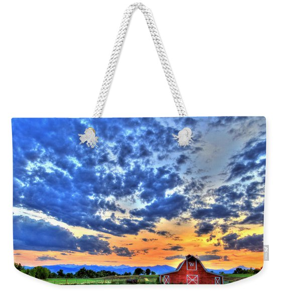 Barn And Sky Weekender Tote Bag