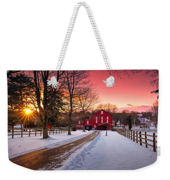 Barn At Sunset  Weekender Tote Bag