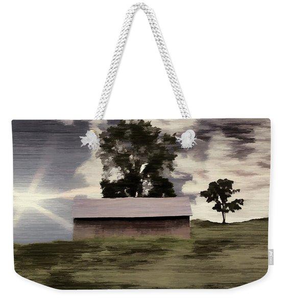 Barn II A Digital Painting Weekender Tote Bag