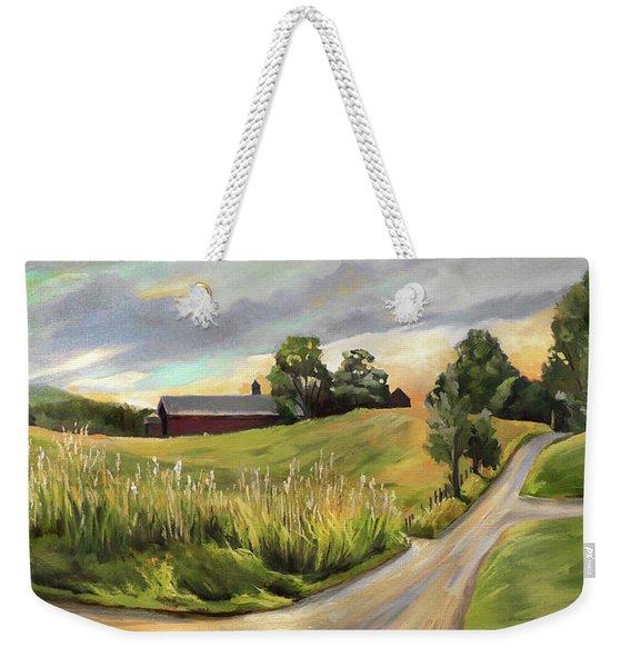 Barn On The Ridge In West Newbury Vermont Weekender Tote Bag
