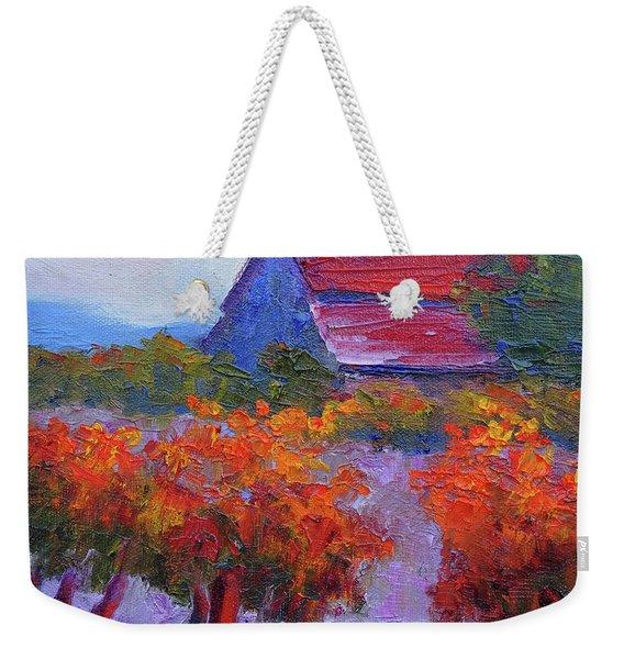 Barn Vineyard Autumn Weekender Tote Bag