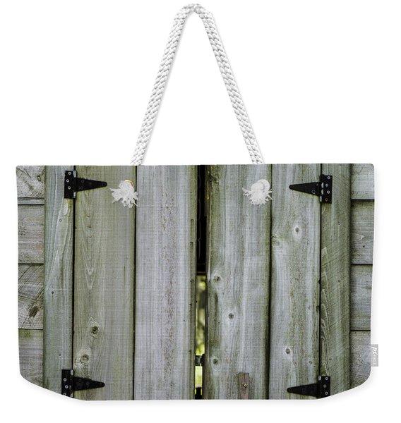 Barn Window, In Color Weekender Tote Bag