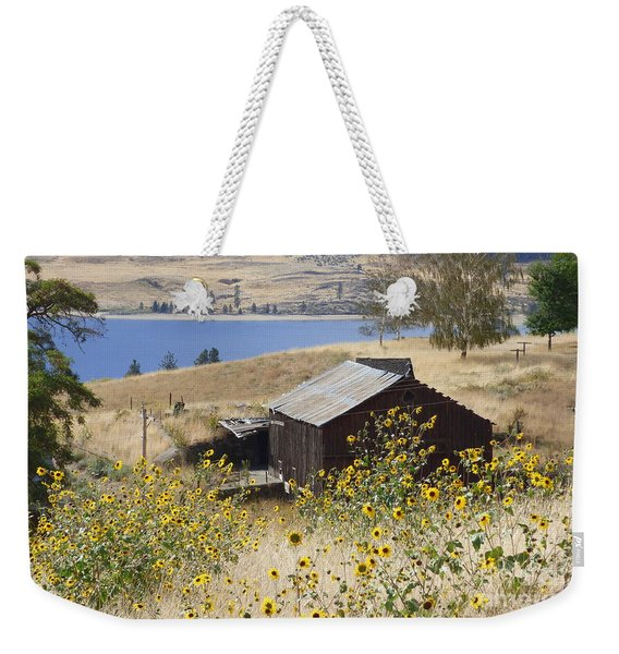 Barn With Sunflowers Weekender Tote Bag