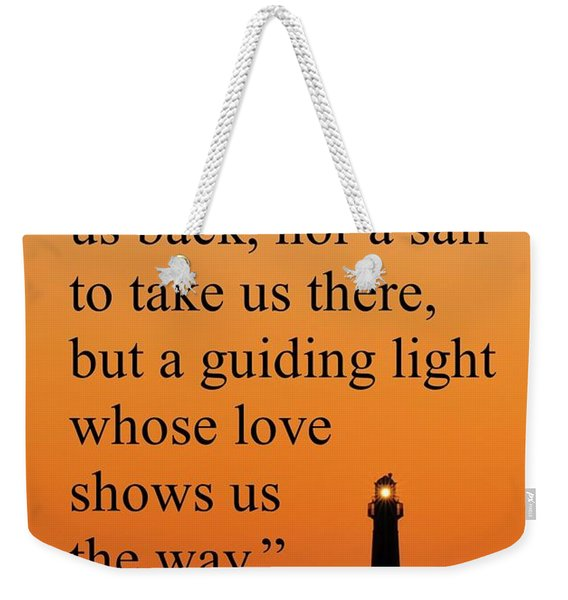 Barnegat Lighthouse With Father Quote Weekender Tote Bag