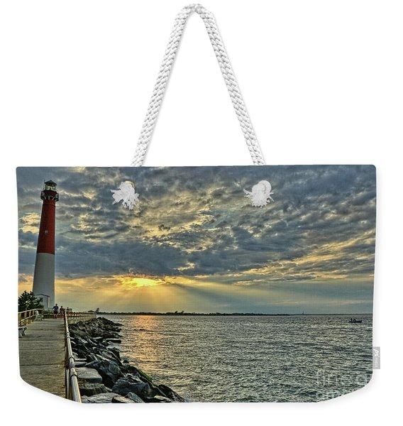 Barneget Lighthouse  New Jersey Weekender Tote Bag