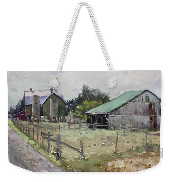Barns And Old Shack In Norval Weekender Tote Bag