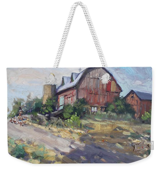 Barns In Georgetown Weekender Tote Bag