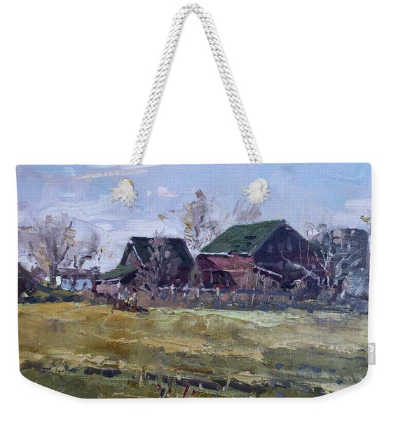 Barns In Niagara County Weekender Tote Bag