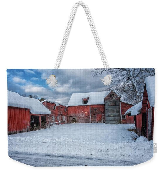 Barns In Winter II Weekender Tote Bag