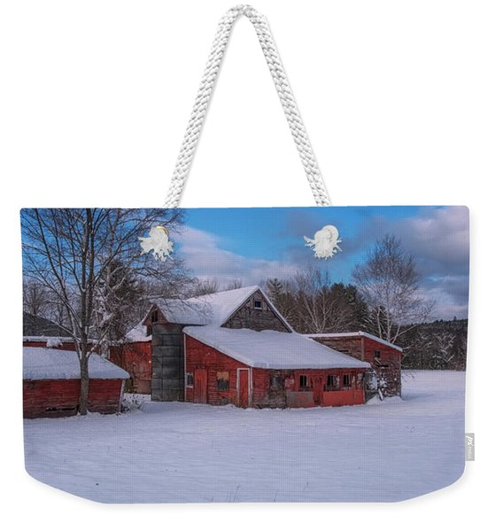 Barns In Winter Weekender Tote Bag