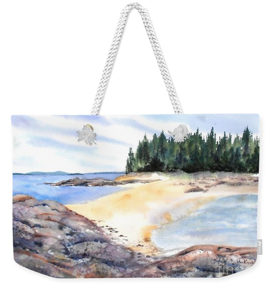 Barred Island Sandbar Weekender Tote Bag