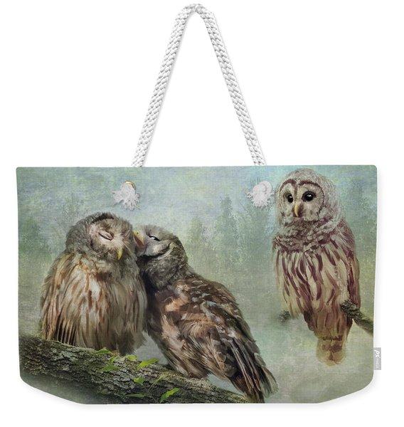 Barred Owls - Steal A Kiss Weekender Tote Bag