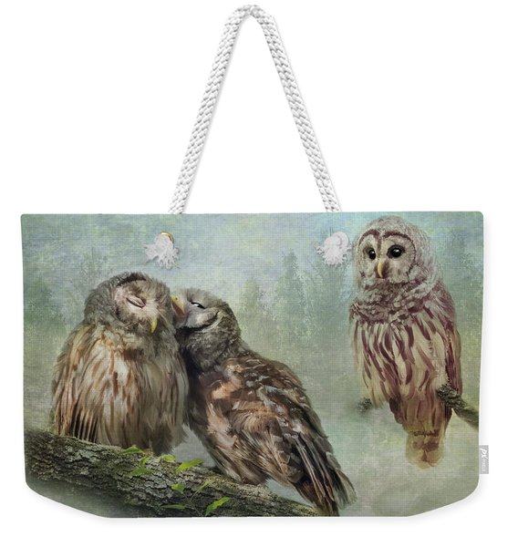 Barred Owls - Steal A Kiss Weekender Tote Bag