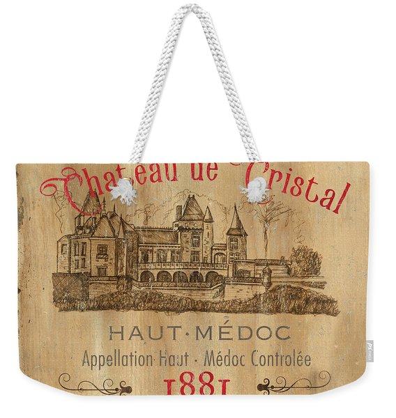 Barrel Wine Label 1 Weekender Tote Bag