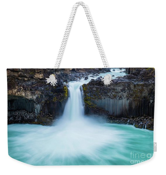 Basalt And Water Weekender Tote Bag