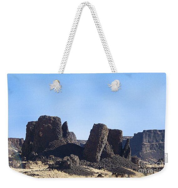 Basalt Columns - The Ice Age Flood Weekender Tote Bag
