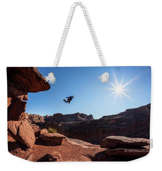 Base Jumper Weekender Tote Bag