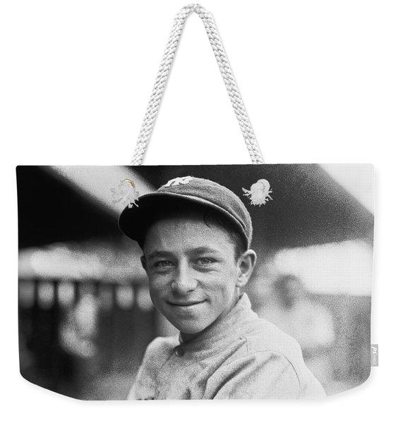 Baseball Mascot Eddie Bennett Weekender Tote Bag