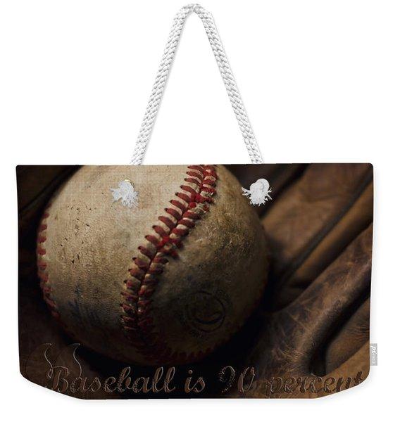 Baseball Yogi Berra Quote Weekender Tote Bag