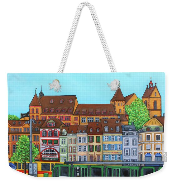 Basel, Barfusserplatz Rendez-vous Weekender Tote Bag