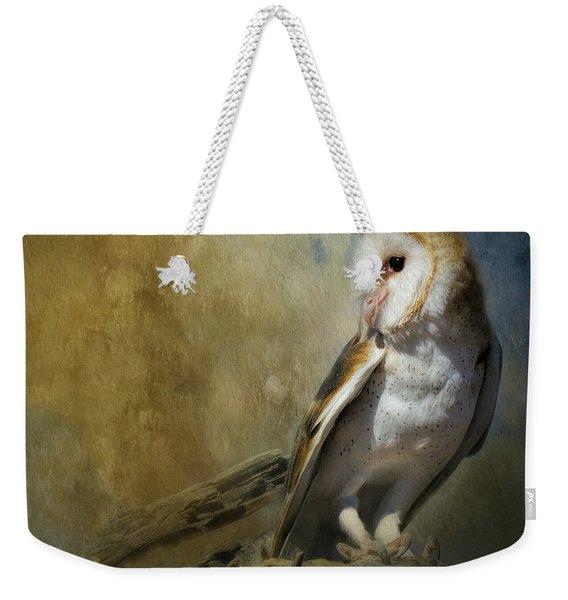 Bashful Barn Owl Weekender Tote Bag