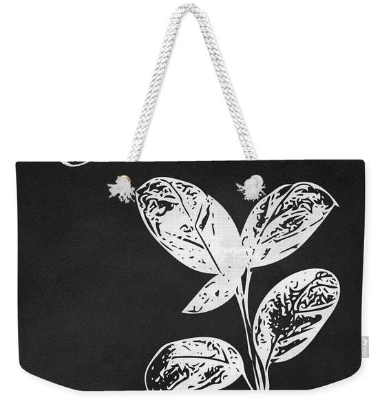 Basil Black And White- Art By Linda Woods Weekender Tote Bag
