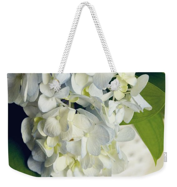 Basket Of Blue Hydrangeas Weekender Tote Bag