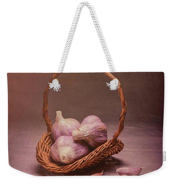 Basket Of Garlic Still Life Weekender Tote Bag