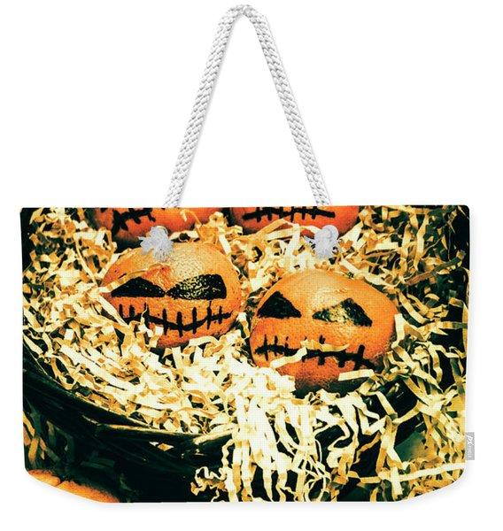 Basket Of Little Halloween Horrors Weekender Tote Bag