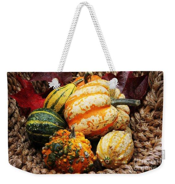 Basket Of Pumpkins Weekender Tote Bag