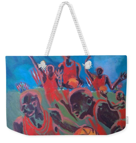 Basketball Soul Weekender Tote Bag
