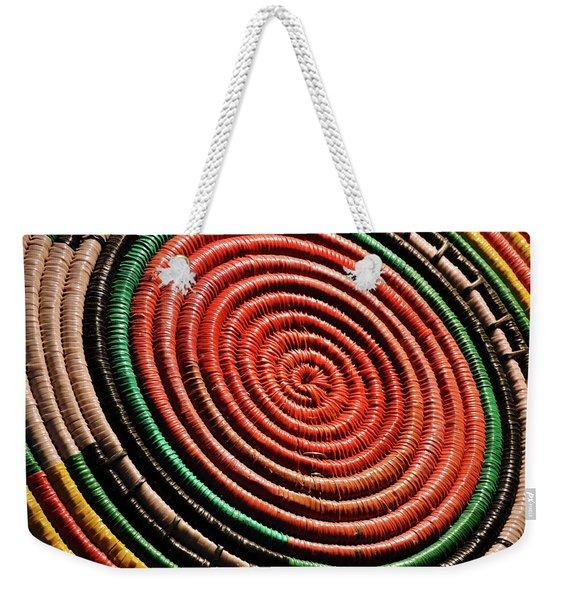 Basketry Color Weekender Tote Bag