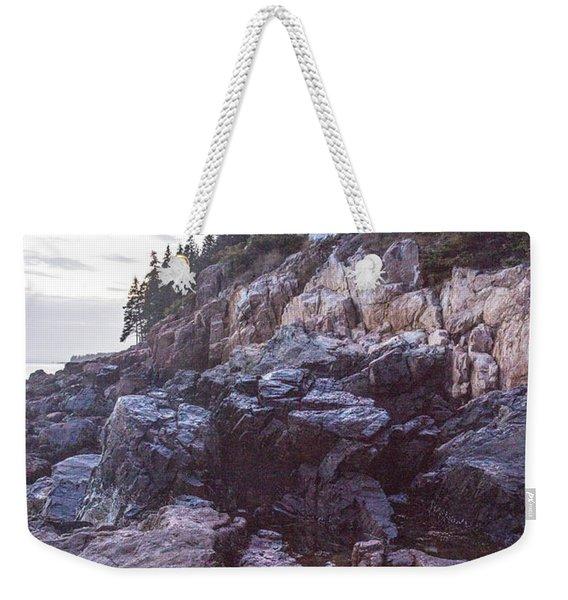 Bass Harbor Light Reflection Weekender Tote Bag