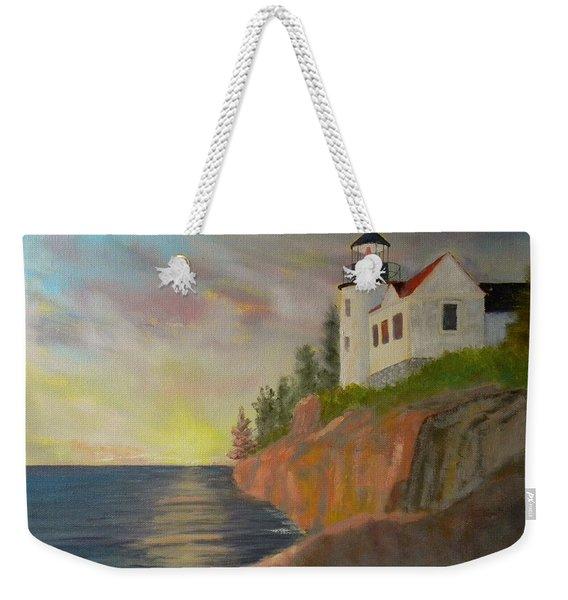 Bass Harbor Light Weekender Tote Bag