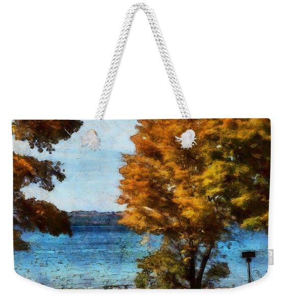 Bass Lake October Weekender Tote Bag