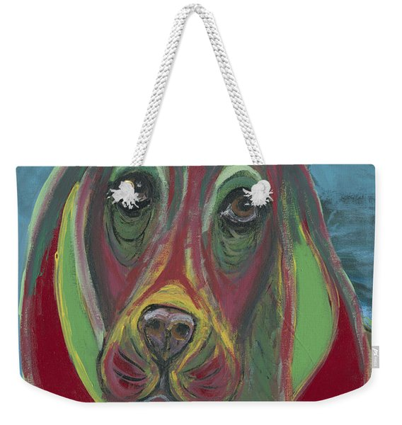 Basset Hound Abstract Weekender Tote Bag