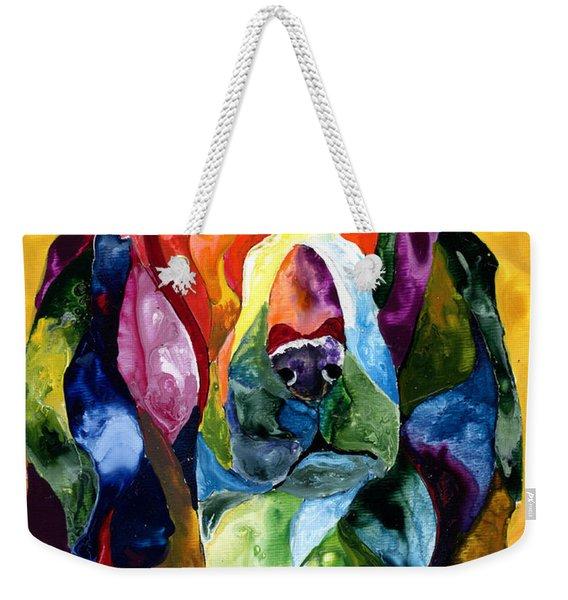 Basset Hound Blues Weekender Tote Bag